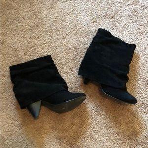 Steve madden black slouchy short booties